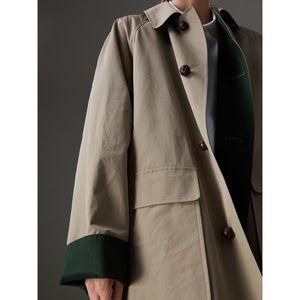 Burberry Waxed Cotton Gabardine Car Coat